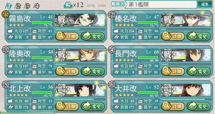 編成例戦艦雷巡