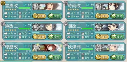 駆逐艦4隻編成
