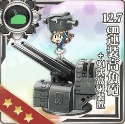 12.7cm連装高角砲+高射装置